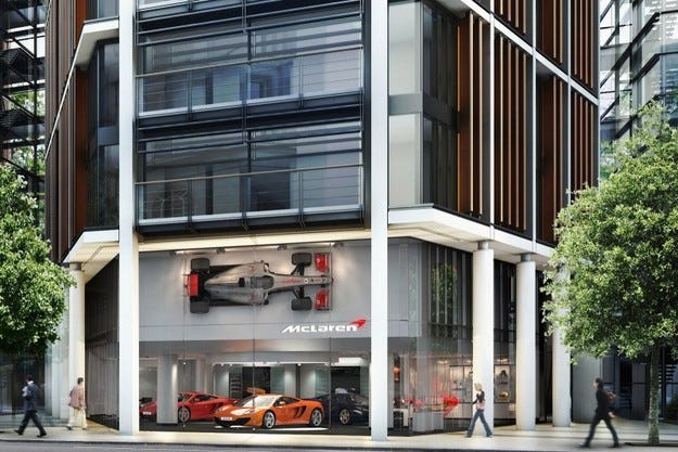 Първият шоурум на McLaren ще отвори врати в Лондон
