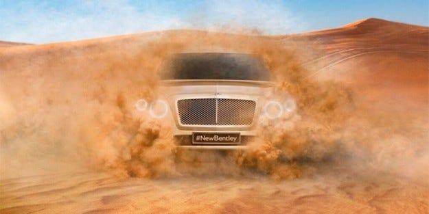 Bentley обяви своя SUV модел чрез Twitter
