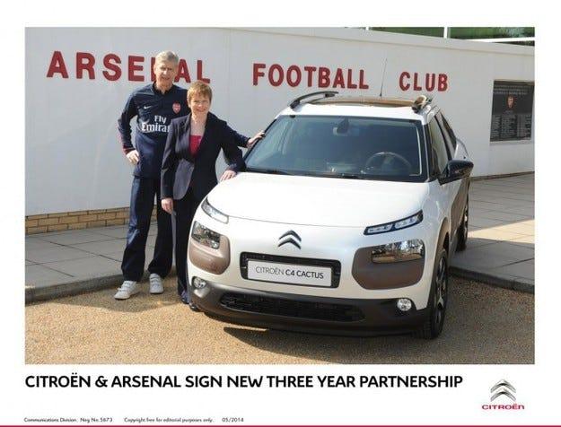 Citroën и Арсенал подписаха нов договор за три години