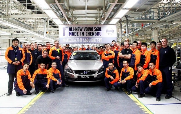 Volvo ще изнася свои автомобили, правени в Китай