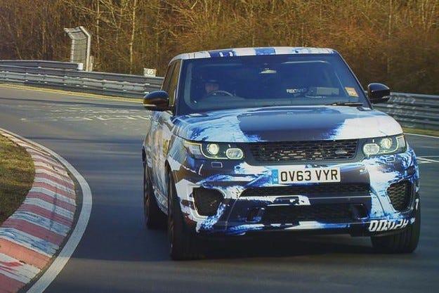 Range Rover Sport SVR: Най-бързият SUV на Нюрбургринг