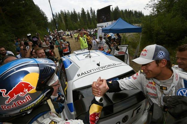 Рали Финландия: Латвала спря серията на Ожие
