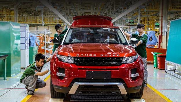 Jaguar Land Rover и Chery откриха завод в Китай