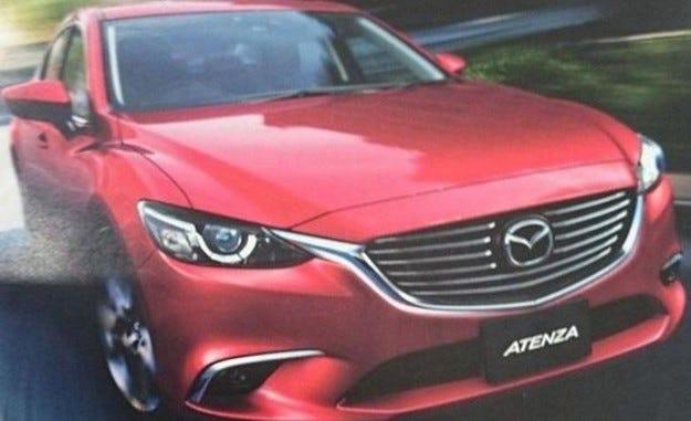 Появиха се първи снимки на обновената Mazda6