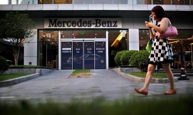 Собствениците на Mercedes в Китай са най-богатите