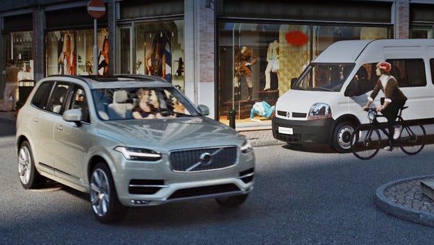 Volvo изгражда връзка между водача и велосипедиста
