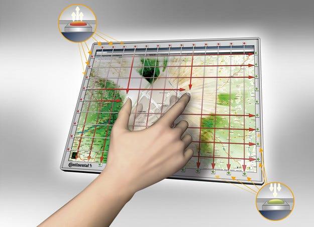 Continental подготвя по-достъпна алтернатива на капацитивните сензорни екрани за автомобили