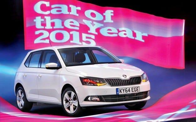 Skoda Fabia е Автомобил на 2015 за What Car?