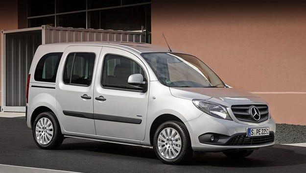 Модернизираха много дискретно Mercedes Citan