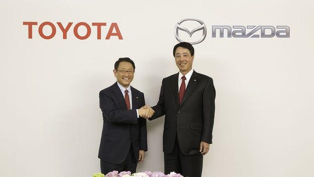 Toyota и Mazda се договориха за  дългосрочно партньорство