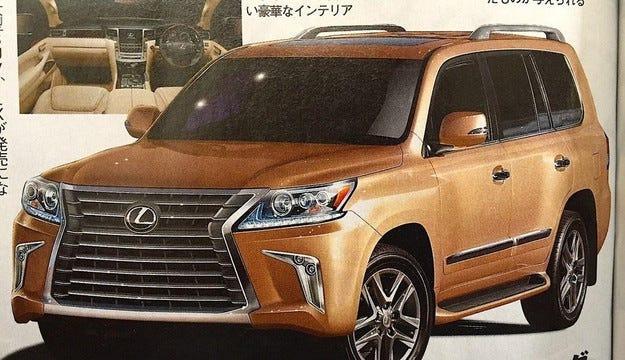 Разсекретиха обновения Lexus LX 570 преди премиерата