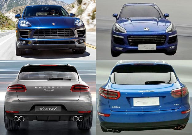 Китайците са готови да продават фалшив Porsche Macan