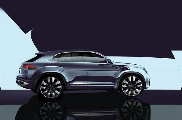 Новият Tiguan Coupe ще получи мотор с 300 к.с.