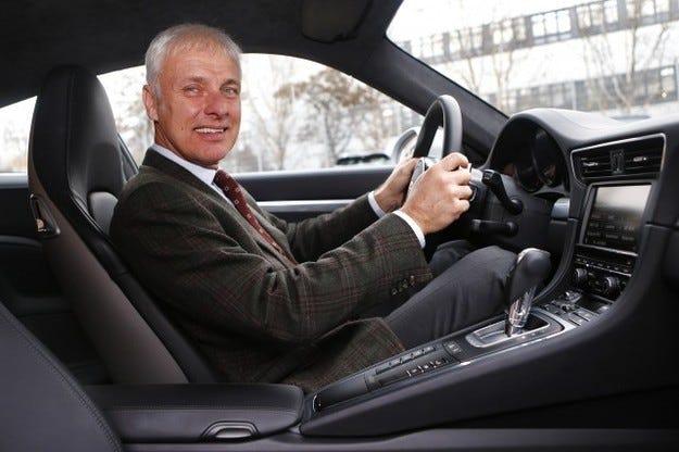 Шефът на Porsche Матиас Мюлер отива на върха
