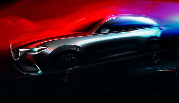 Mazda пусна първото изображение на новия CX-9