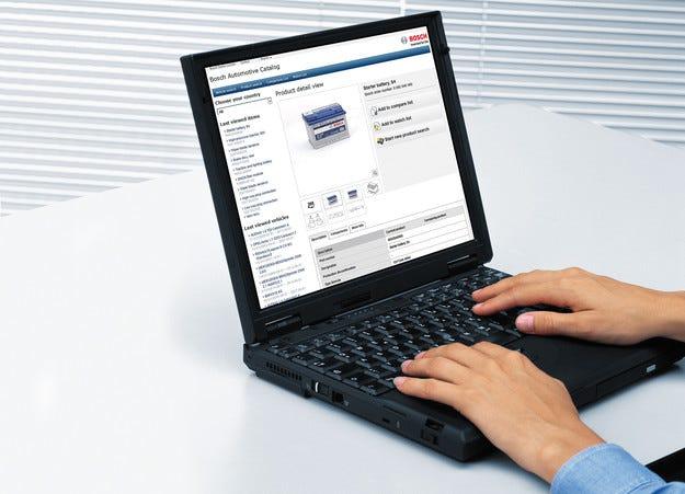 Bosch eCat-online – каталогът за автомобилни резервни части