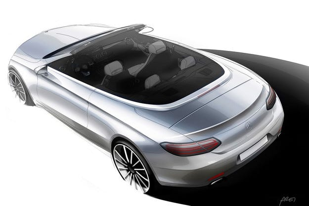 Mercedes-Benz разсекрети дизайна на кабриолета C-класа