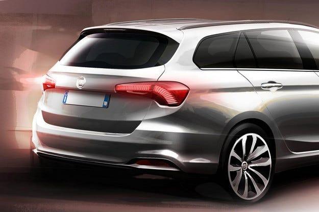 Fiat пусна публикува първото изображение на комбито Tipo