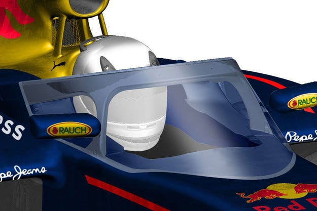 Red Bull показа своята визия за защита на кокпита