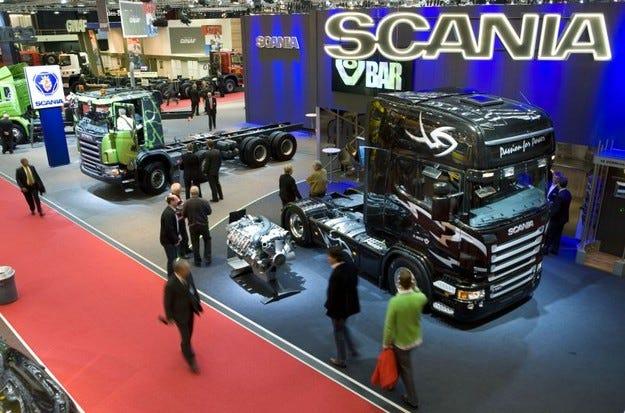 Продажбите на Scania се сринаха в края на годината