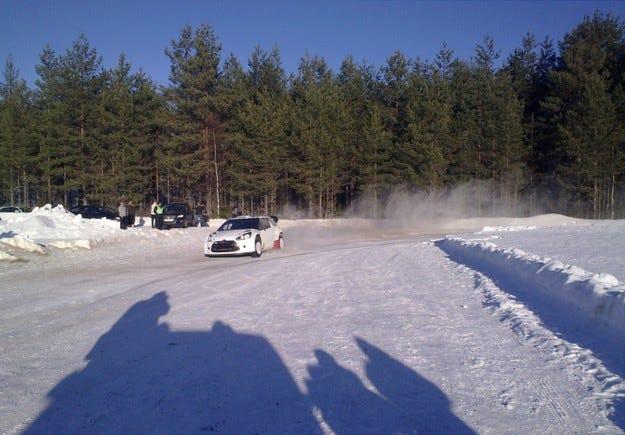 Солберг тества DS3 WRC в Швеция