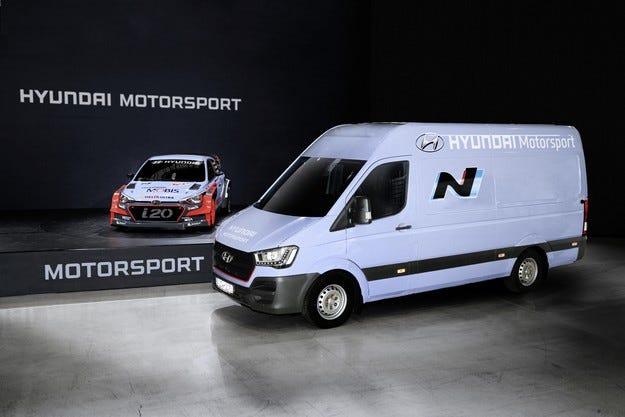 Сервизен ван H350 подпомага WRC екипа на Hyundai