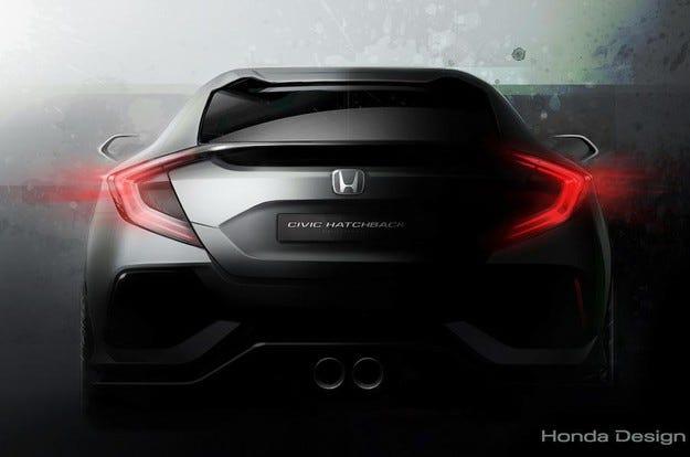 Honda пусна първо изображение на новия хечбек Civic