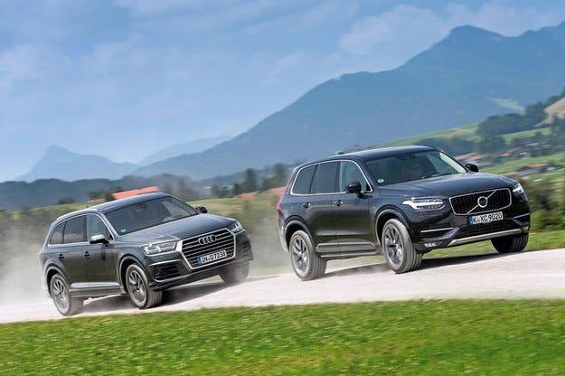 Audi Q7 срещу Volvo XC90