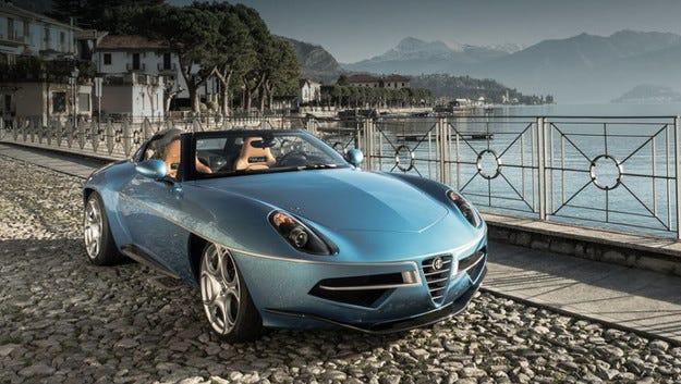 Купето Alfa Romeo Disco Volante остана без покрив