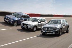 Audi Q5, BMW X3, Mercedes GLC