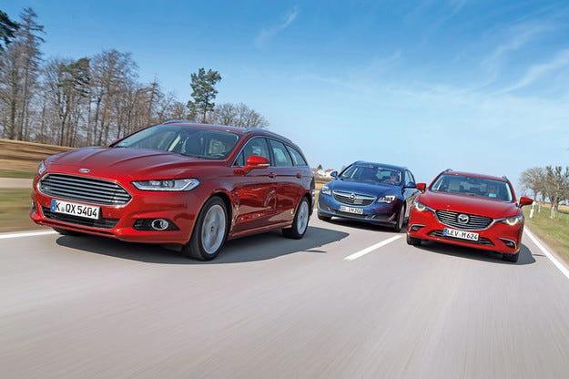 Ford Mondeo, Mazda 6, Opel Insignia Sports Tourer