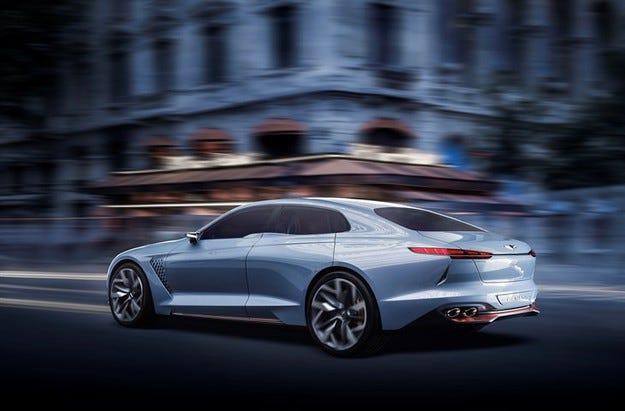 Genesis разкрива концепция за хибриден спортен седан