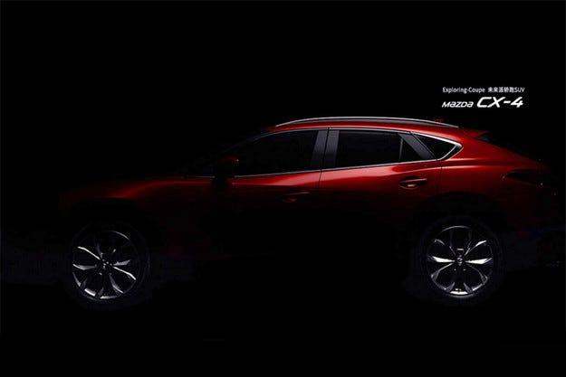 Mazda пусна тийзър изображение на кросоувъра CX-4