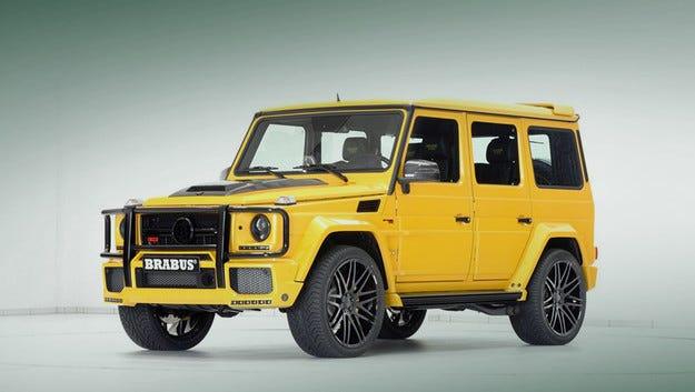 Всъдеходът Mercedes-AMG G63 на Brabus се оказа с жълт цвят