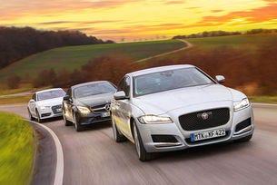 Audi A7, Jaguar XF, Mercedes CLS