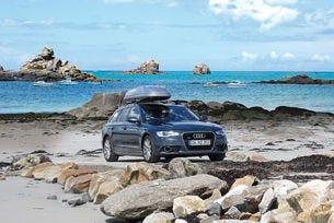 Audi A6 Avant 3.0 TDI, 88 412 км. С допълнителен багажник на покрива в Бретан – добре дошли при Шти.