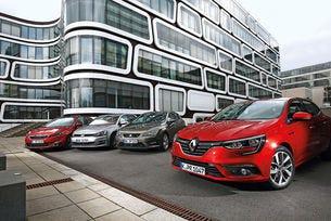 Renault Mégane срещу VW Golf, Seat Leon и Peugeot 308