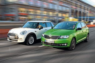 Mini One и Skoda Rapid Spaceback