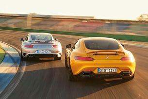 Mercedes-AMG GT срещу Porsche 911 Turbo S