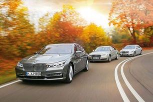 Audi A8, BMW Серия 7, Mercedes S-класа
