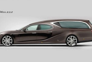 От Maserati Ghibli направиха катафалка