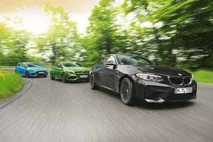 BMW M2 срещу Ford Focus RS и Mercedes-AMG A 45