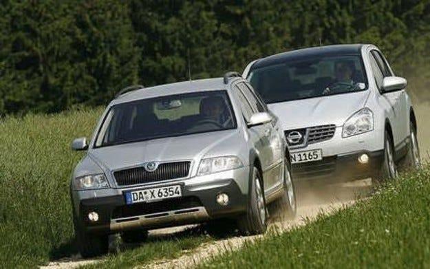 Skoda Octavia Scout срещу Nissan Qashqai