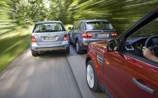 Range Rover, BMW X5 & Mercedes ML