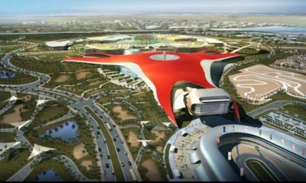 Абу Даби: Бъдещият парк на Ferarri