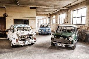 Спортна среща: Fiat Abarth 1000 TC, Morris Mini Cooper S и Renault 8 Gordini 1300