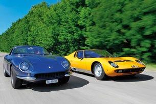 Италианска класика ІІ, спортни автомобили: Ferrari 275 GTB/4 и Lamborghini Miura P400