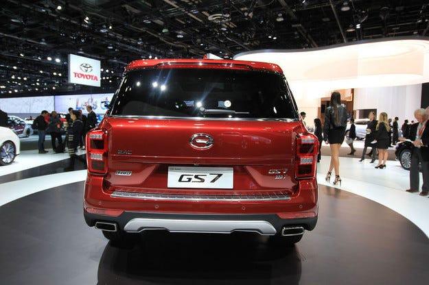 GAC анонсировал вседорожный автомобиль GS7 наДетройтском автомобильном салоне