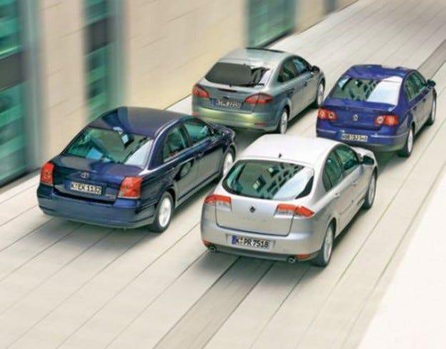 Passat, Avensis, Mondeo & Laguna
