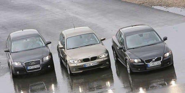Volvo C30 vs. BMW 1 vs. Audi A3